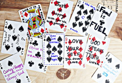 Meanings and Spreads of Playing Cards